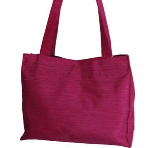 *3 for $25* Gloria Vanderbilt Shantung Fuchsia Bag